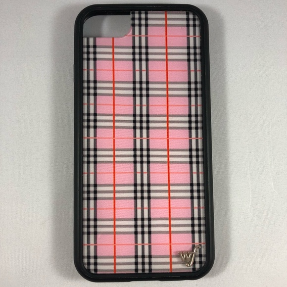 Wildflower Accessories Pink Plaid Case For 678 Iphones Poshmark